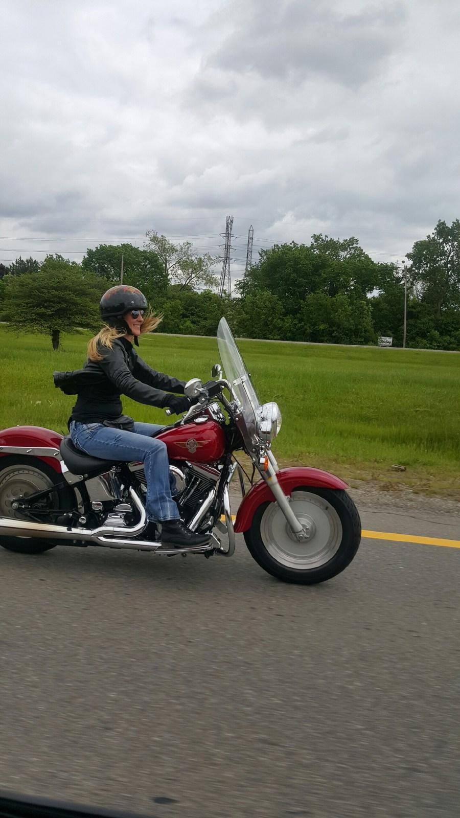 Riding my Harley
