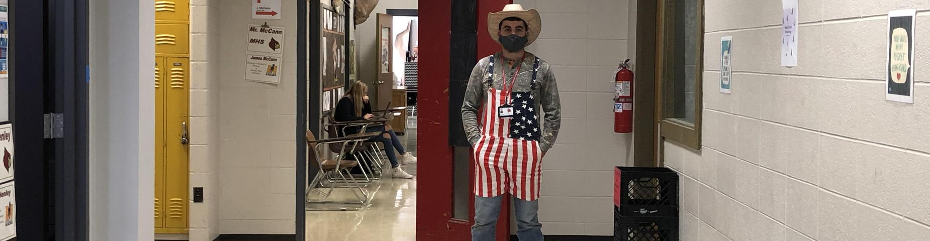 Battle of the Birds!  Hick Day-Mr. McCann going all out today!