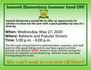 Summit Elementary Summer Send Off 2020!  #ItsComeBackTime