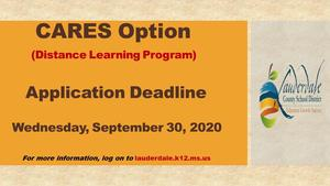 CARES Option Deadline Graphic