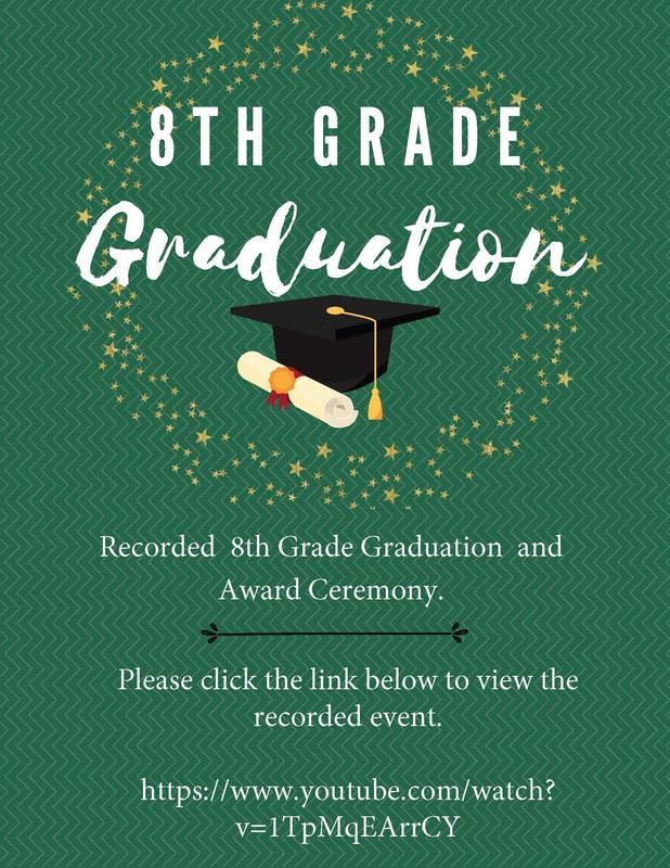 8th Grade Graduation Recorded Video Featured Photo