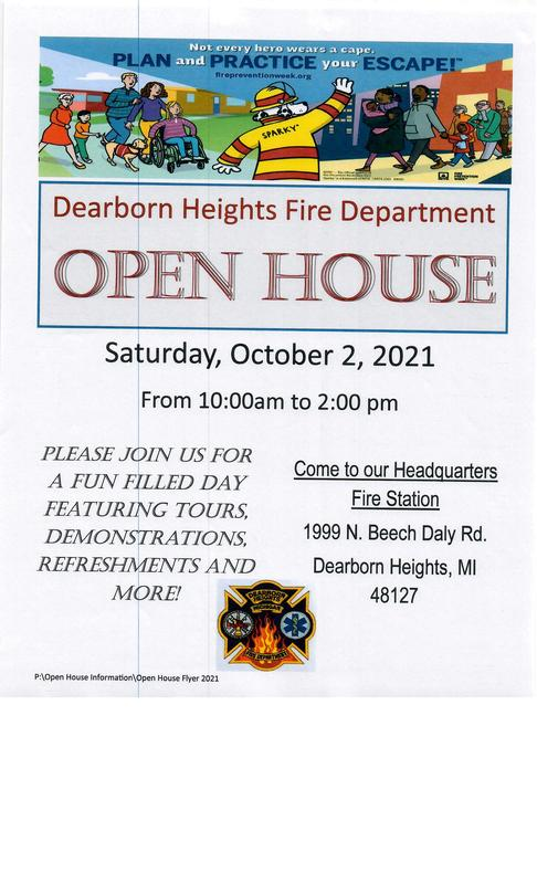 Dearborn Heights Fire Department Open House🚒🐼 Featured Photo