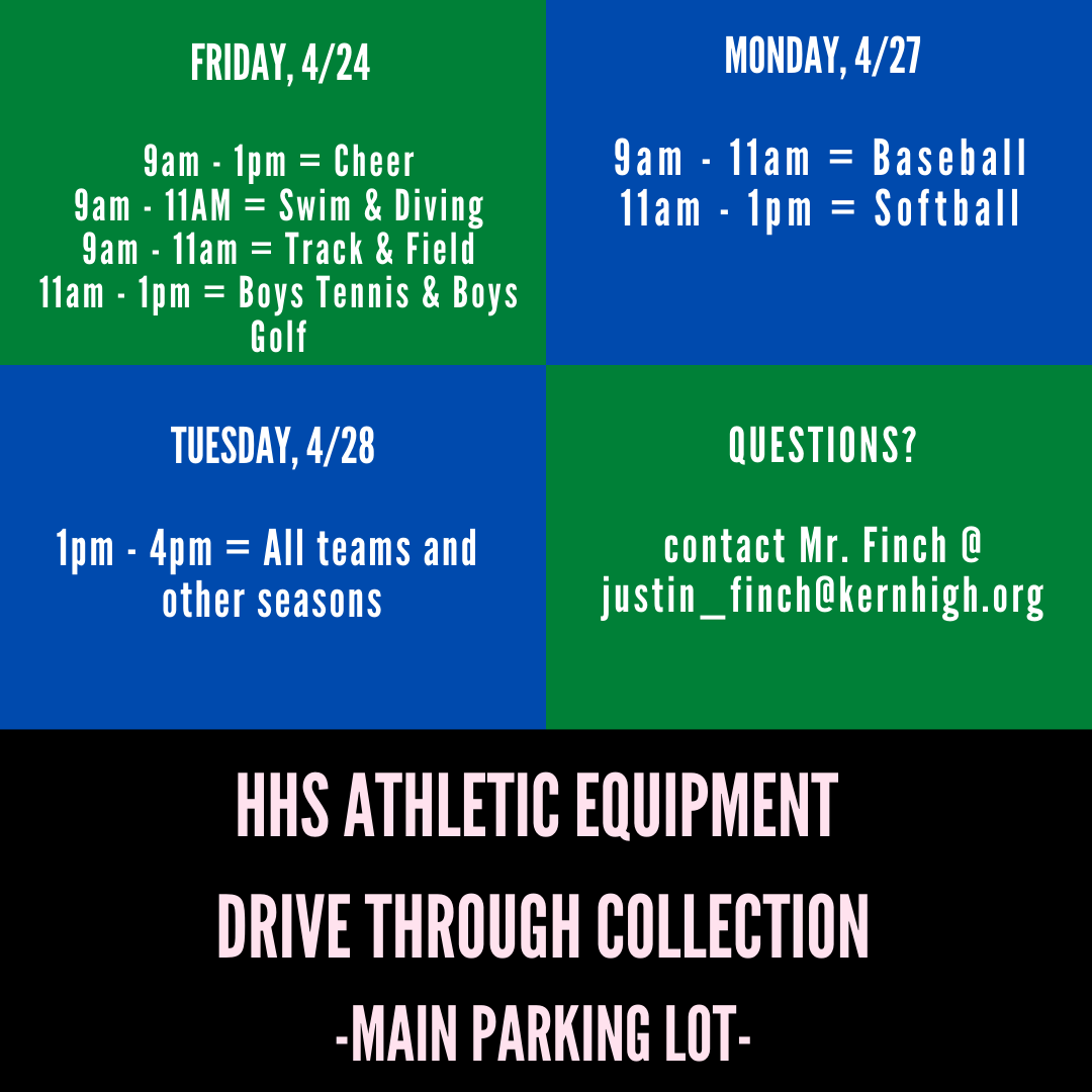 HHS Athletic Equipment Collection Information