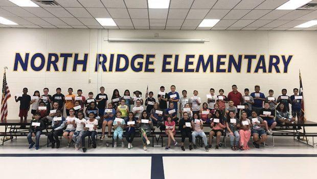 North Ridge group picture of students with letters