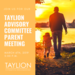Taylion Advisory Committee Flyer