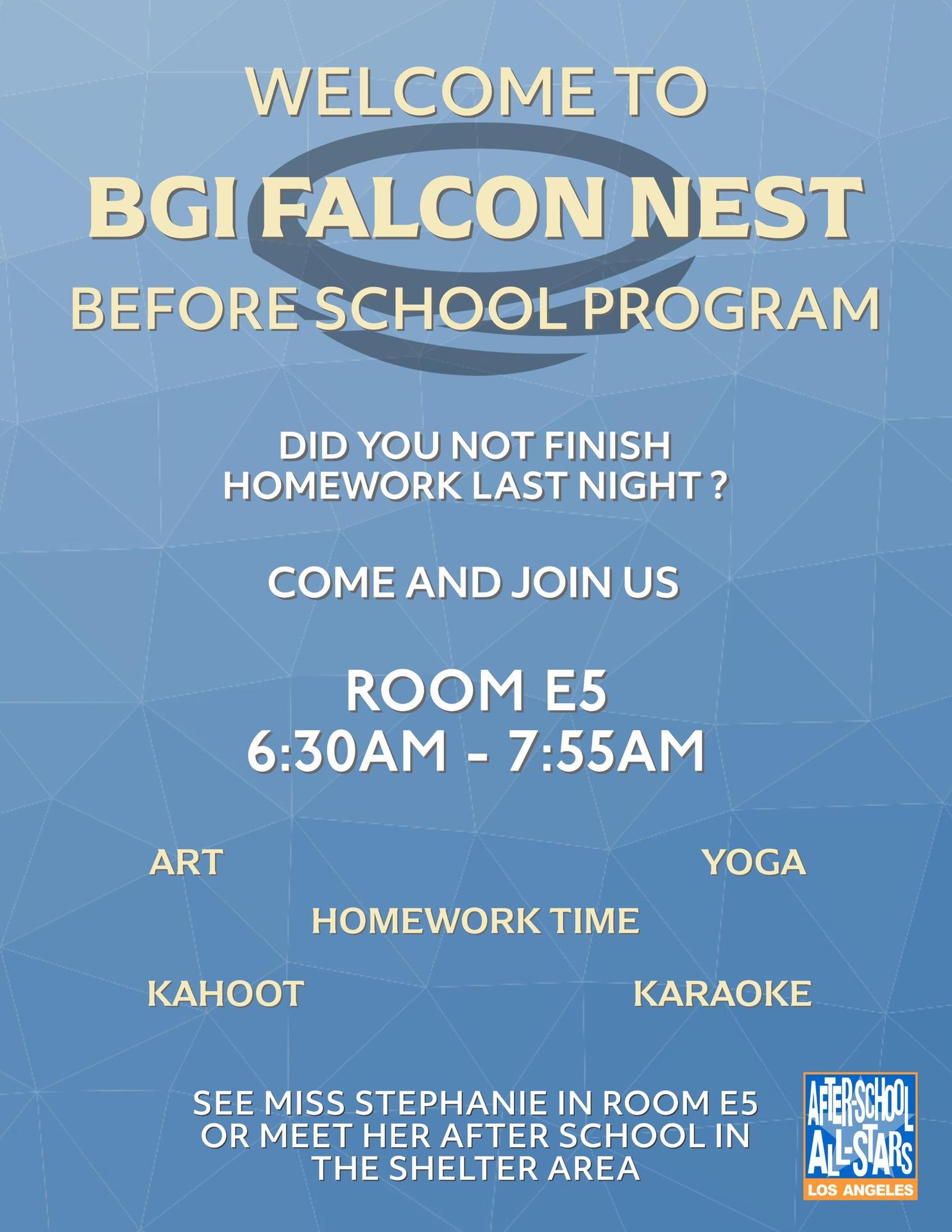 BGI All-Stars Nest Flyer