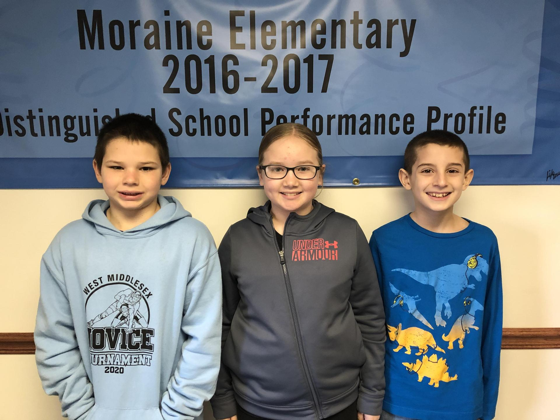 February Student of the Month 4th Grade