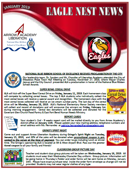 ALA Eagles Nest Newsletter January 2019 Featured Photo