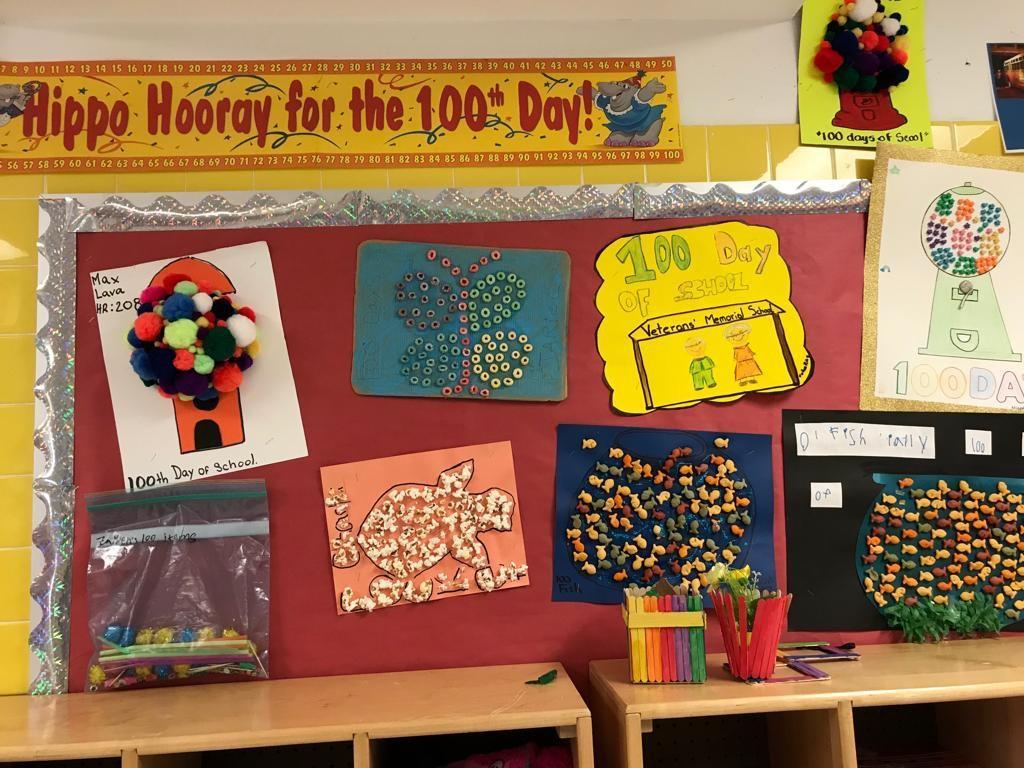 100 days of school counting activity display