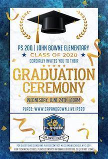 PS 20 Graduation Ceremony Invitation