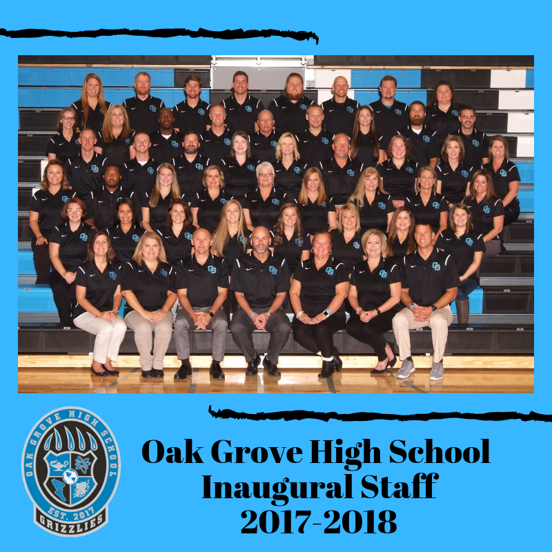 Oak Grove High School Staff Photo 2017-2018