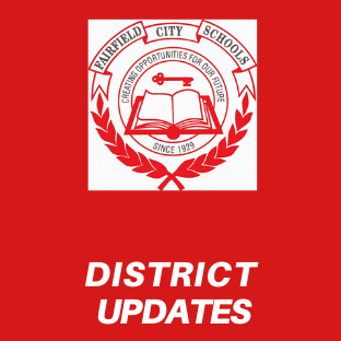 Graphic that says District Updates