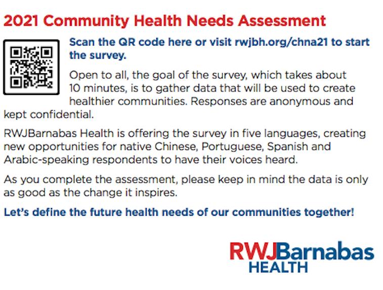 Survey: Community Health Needs Assessment (CHNA) / Encuesta: Evaluación de Las Necesidades de Salud de La Comunidad (CHNA) Featured Photo