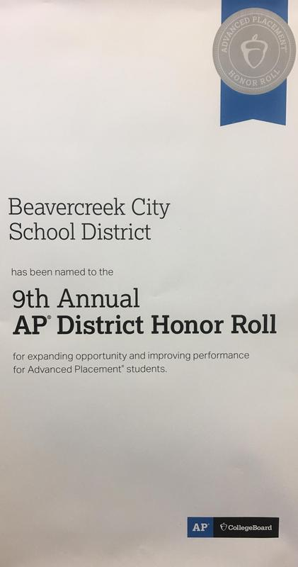AP District Honor Roll Banner
