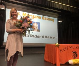 Mrs. Basney, Teacher of the Year