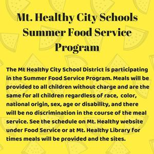 Mt. Healthy Food Service Program Featured Photo