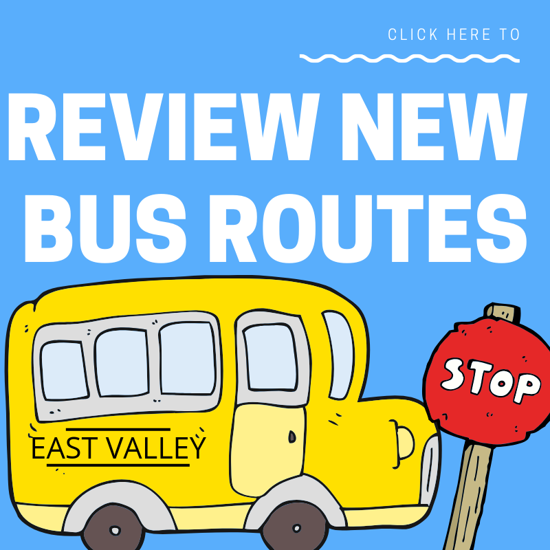 Review new bus routes with school bus