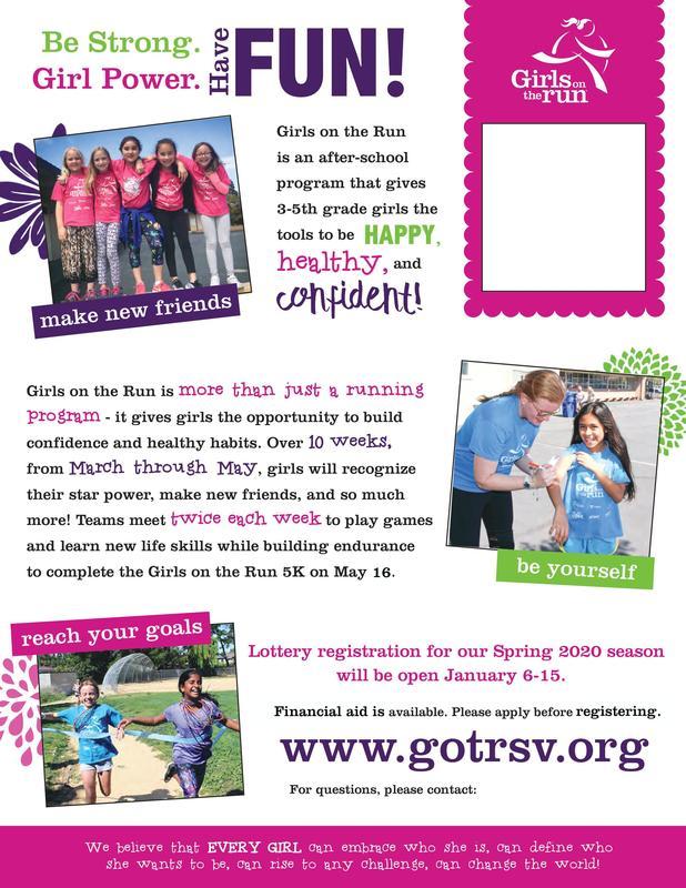 Girls on the run - Spring 2020 Season Featured Photo