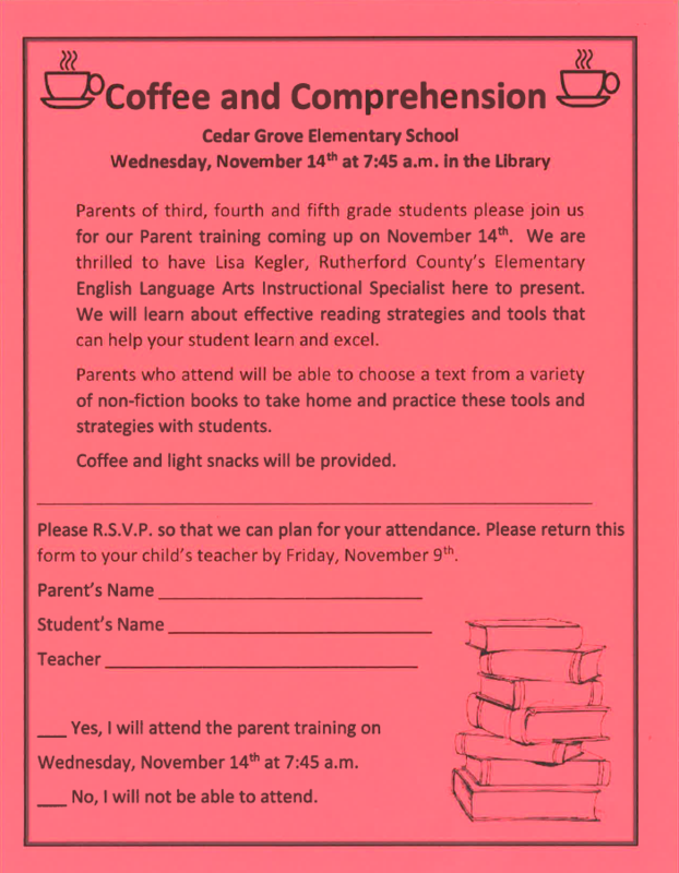 Coffee and Comprehension Form