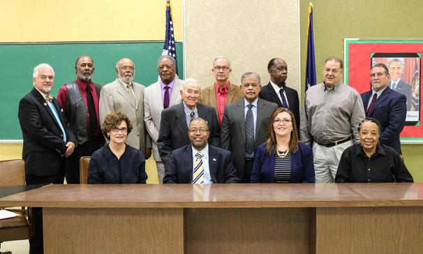 Superintendent Jenkins with St. Landry Parish School Board Members