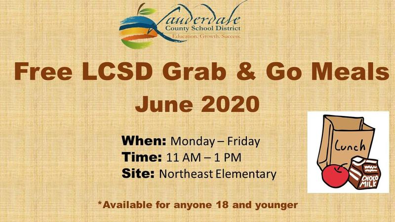 LCSD Grab & Go Meal Initiative Graphic