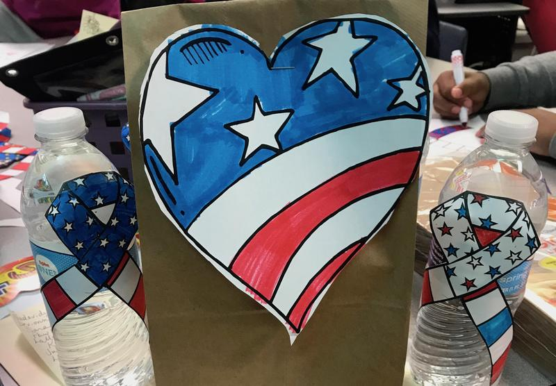 Earl Hanson Students Make Goody Bags for Veterans Featured Photo