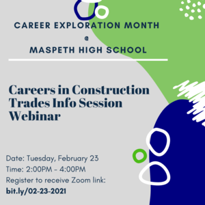 Careers in Construction Trades Info Session Webinar