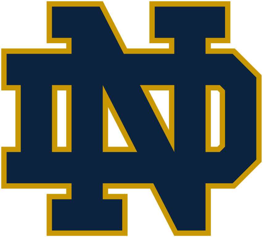 The N and the D stand for Notre Dame Fighting Irish.