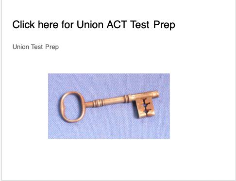 Union Test Prep