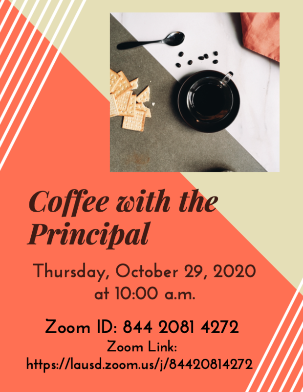 Coffee with the Principal Thursday, October 29th at 10:00 a.m. Featured Photo