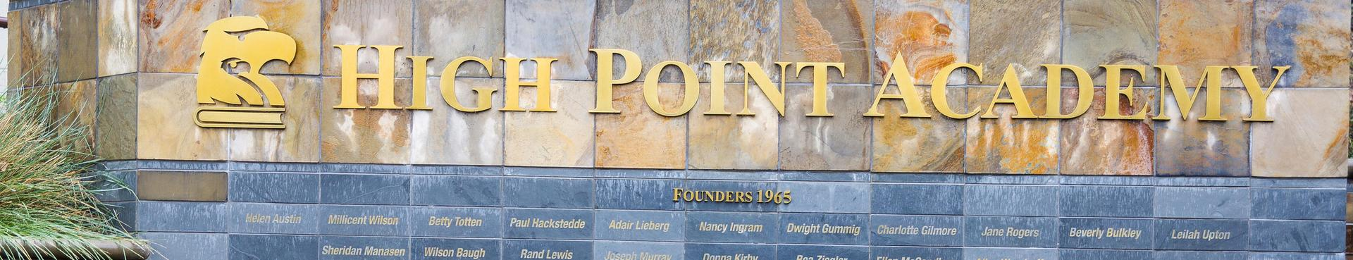 High Point donation wall