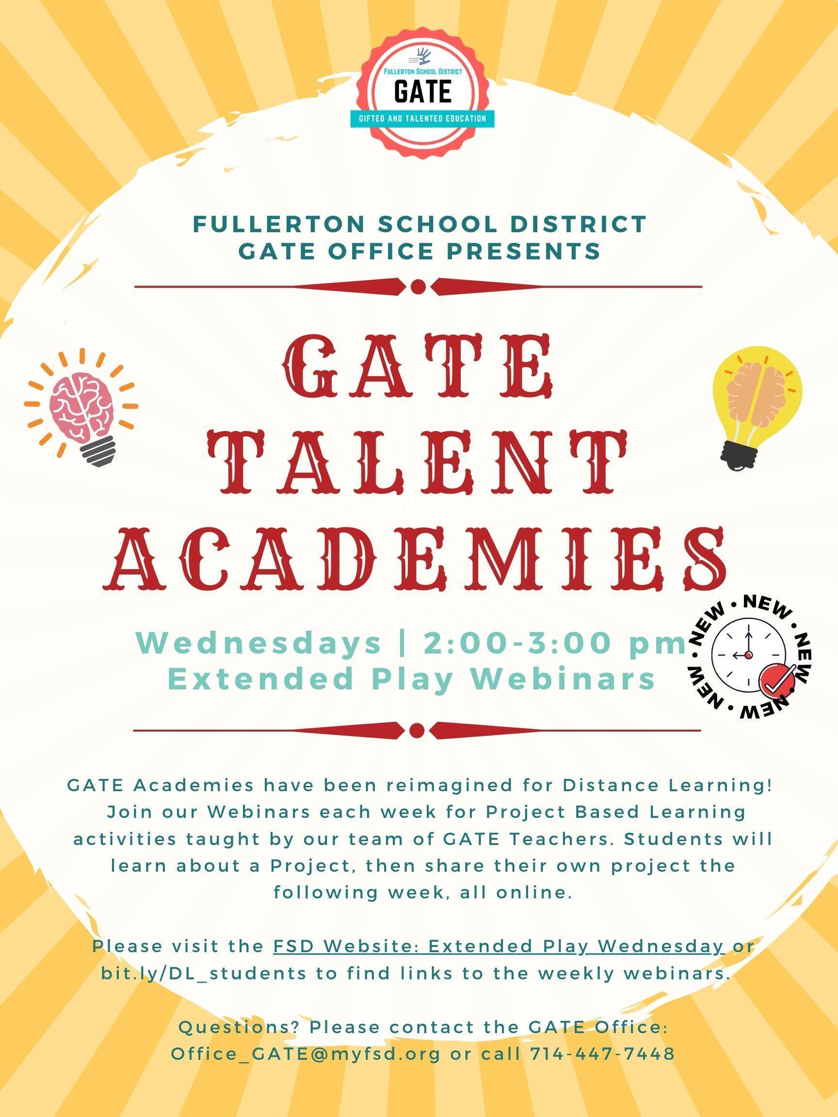 GATE Academy Flyer