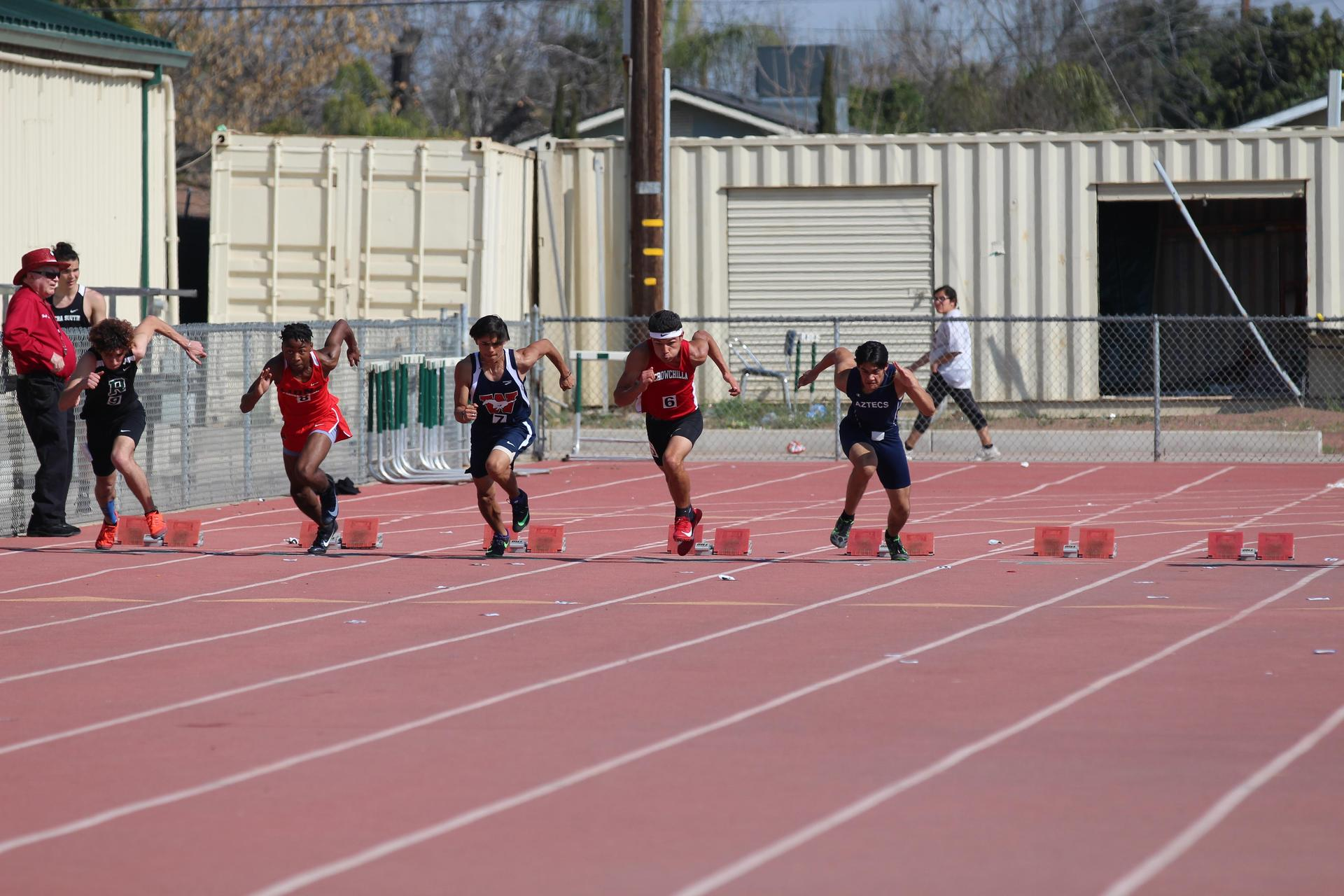 Chowchilla athletes competing in DinubaChowchilla athletes competing in Dinuba