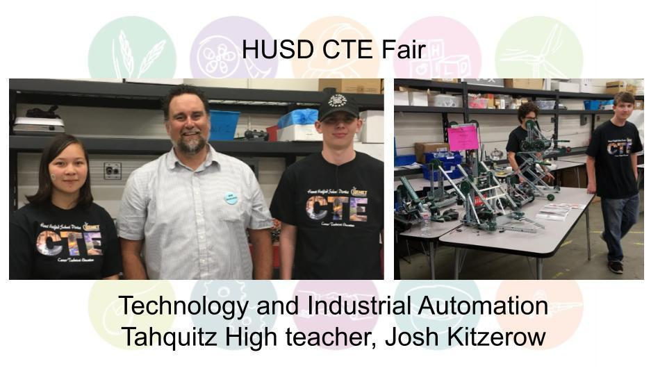 Technology and Industrial Automation Tahquitz High teacher, Josh Kitzerow