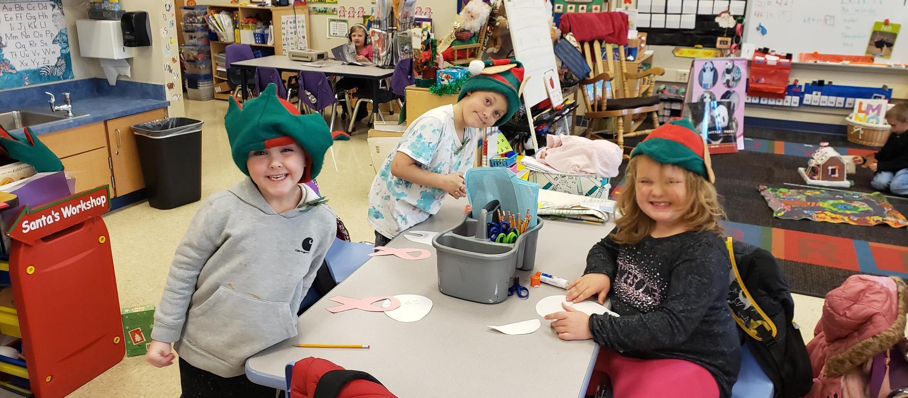kindergarten elves working