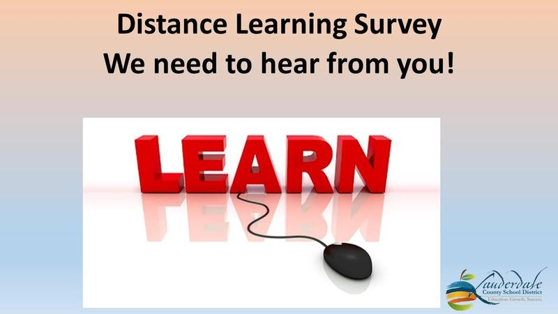 LCSD Distance Learning Plan Survey Flyer