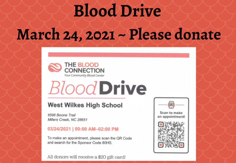 Donate to the WWHS Blood Drive Thumbnail Image