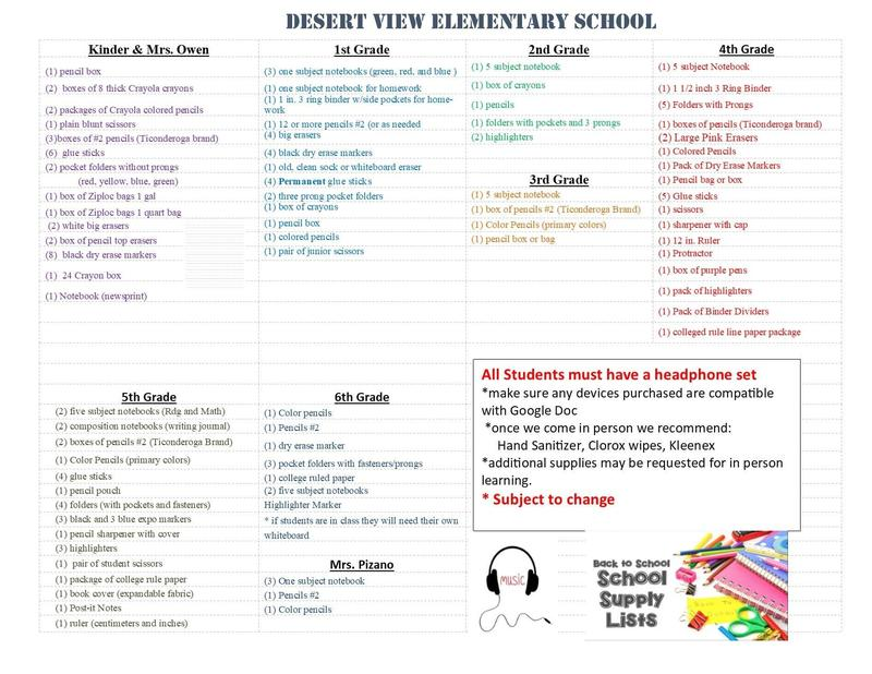 K-6th supply lists Featured Photo