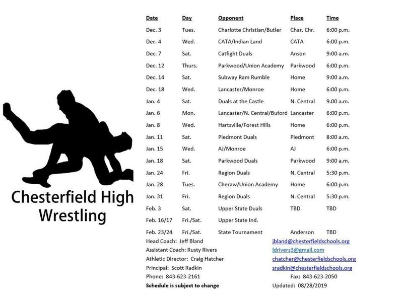 2019-20 Wrestling schedule Featured Photo