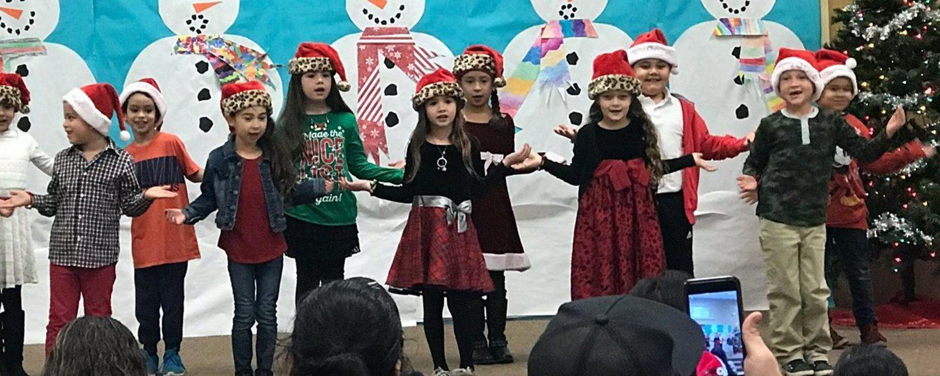 student christmas play