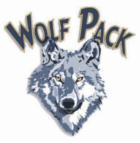 Wapato High School Wolf Head Wolf Pack Logo