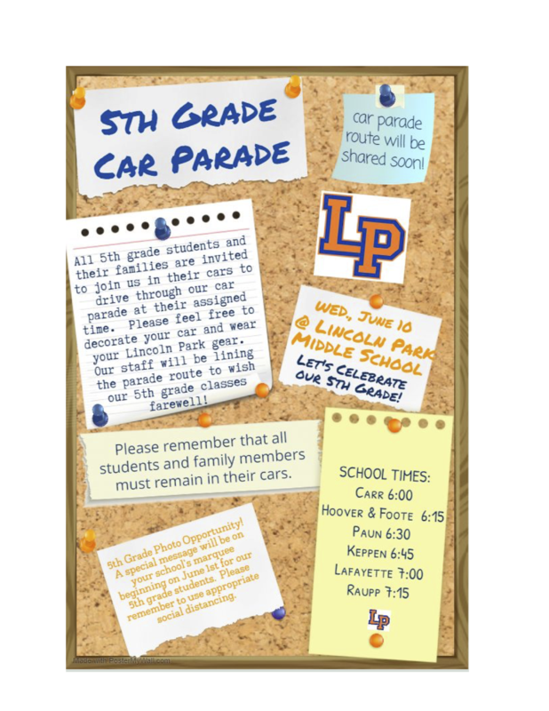 5th Grade Car Parade Thumbnail Image