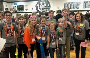 This Page Elementary team will advance to the state finals with a second place finish at the regional competition.
