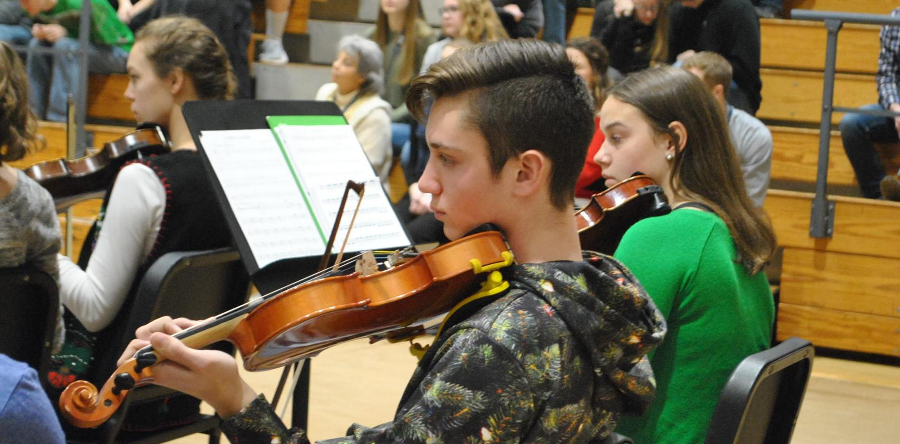 Musical performance at high school