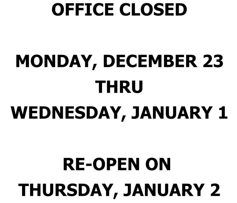 Winter Break Office Hours