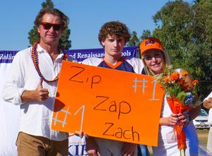 Zach and his parents