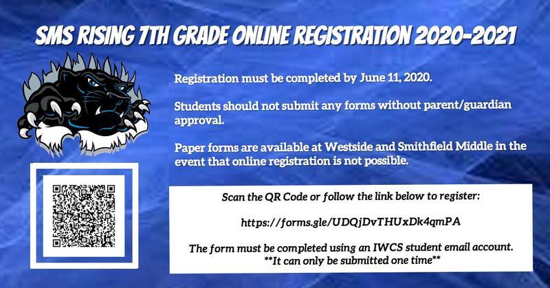 7th grade registration