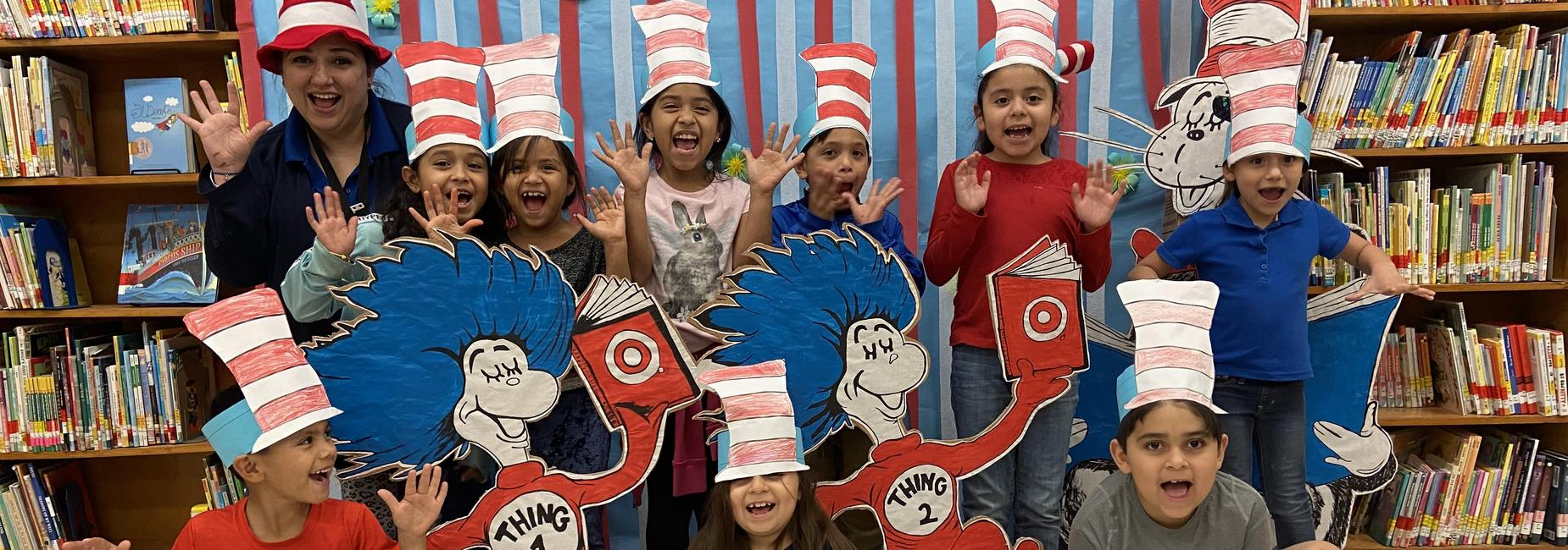 First Grade students celebrate Dr. Seuss!