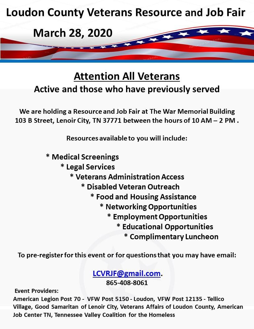 Veteran Announcement Flyer