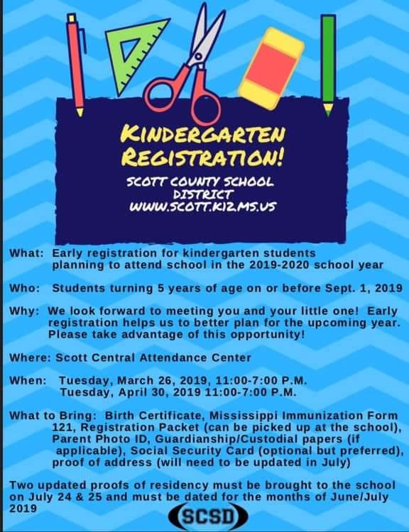 S.C. Kindergarten Registration